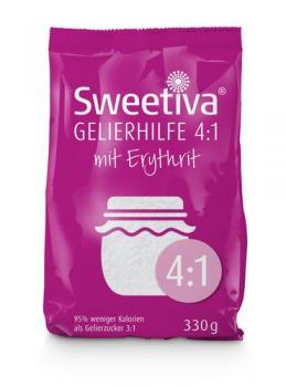 Sweetiva Gelierhilfe 4:1 mit Erythrit 330g – 95% weniger Kalorien | idealer Ersatz für Gelierzucker zum Kochen von Marmelade & Gelee |Vegan & Zahnfreundlich